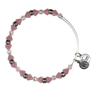 Alex and Ani silver and pink beaded bracelet
